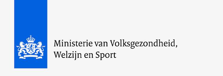 Logo Ministerie van Volksgezondheid, Welzijn en Sport