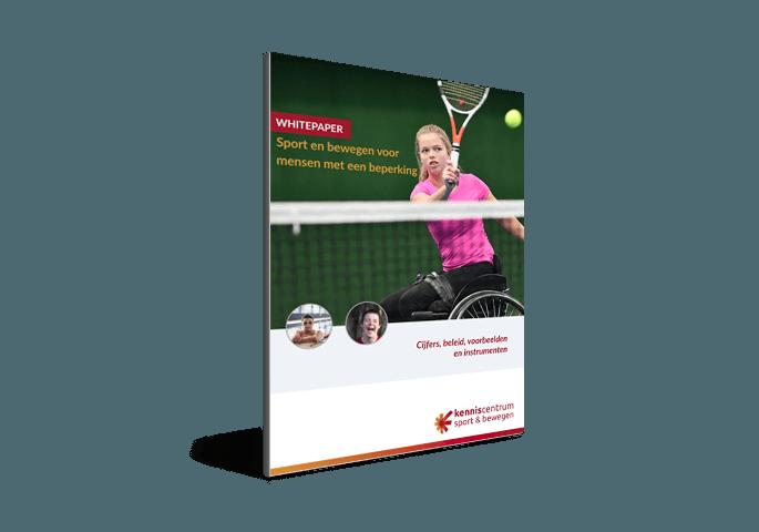 cover whitepaper sport en bewegen voor mensen met een beperking