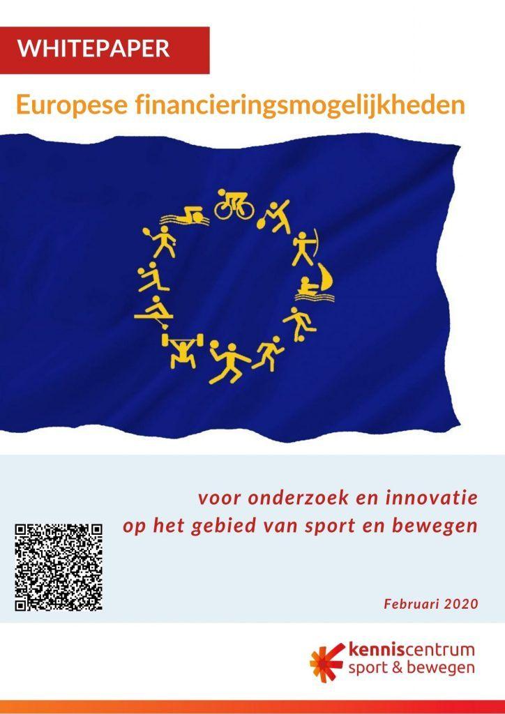 Titelpagina van de whitepaper Europese financieringsmogelijkheden met aangepaste Europese vlag