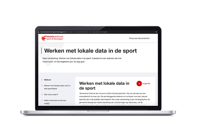 visuele weergave werken met lokale data in de sport