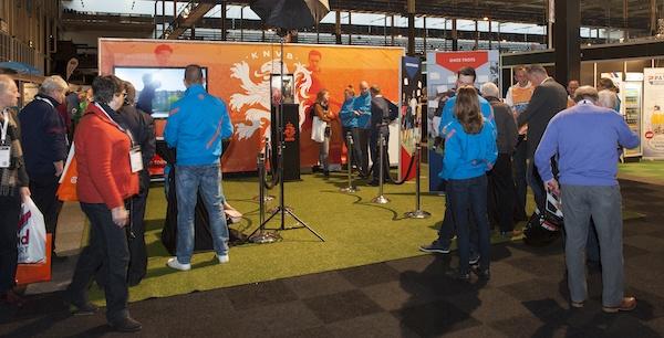 Stand KNVB bij vorige editie van Nationale Sport Vakbeurs.