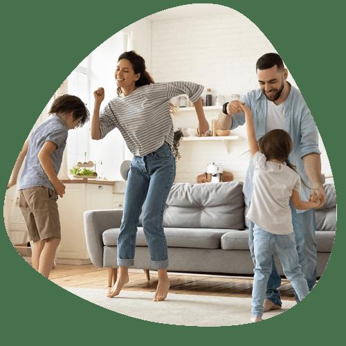 Dansend gezin