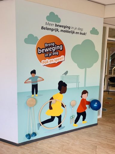beweegvriendelijke inrichting van JGZ wachtruimte in Utrecht