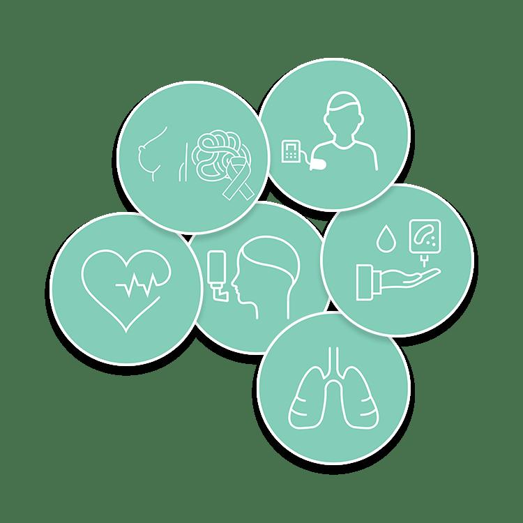 iconen chronische aandoeningen