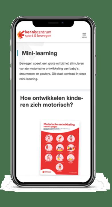 mini learning motorische ontwikkeling